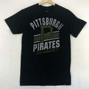 Pittsburgh Pirates Short Sleeve Tee Shirt Black